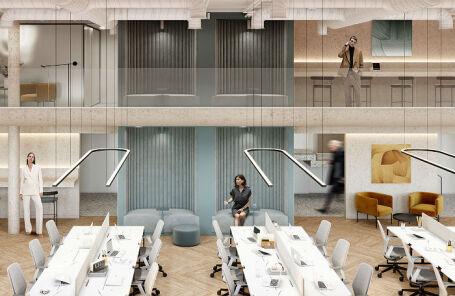 Гибкий офис, спроектированный IND architects для компании Space 1.
