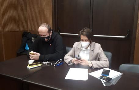 Георгий Албуров и его адвокат Валерия Аршинина.