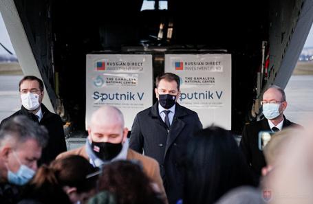 Партия «Спутник V» в аэропорту «Кошице», Словакия.