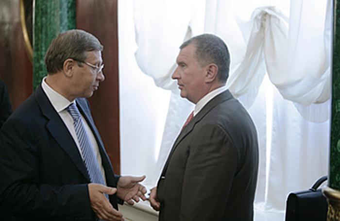 Сечин и Евтушенков