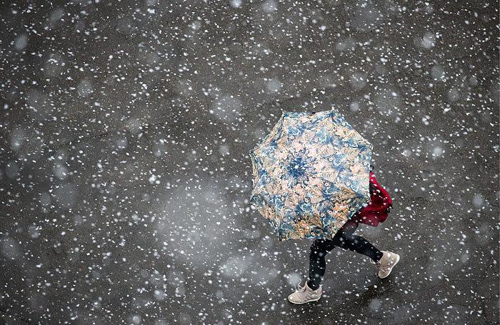 гуашью 1-ый снег в моем городе вновь 1-ый снег фанатов