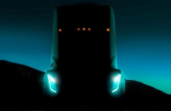 Презентация электрического грузовика Tesla Semi в Лос-Анджелесе, США.