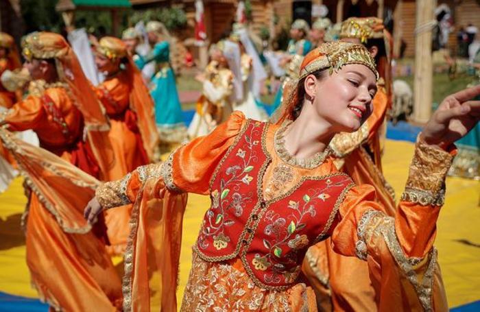 Празднование Сабантуя в Казани.