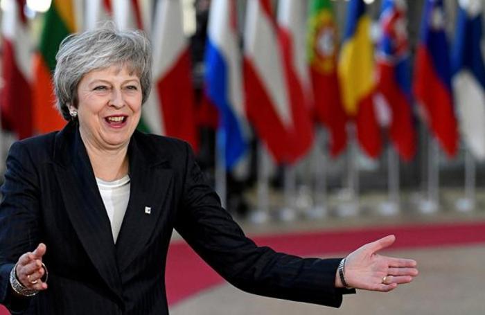 Премьер-министр Великобритании Тереза Мэй на саммите лидеров Европейского союза в Брюсселе.