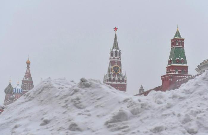 Рекордный снегопад в Москве