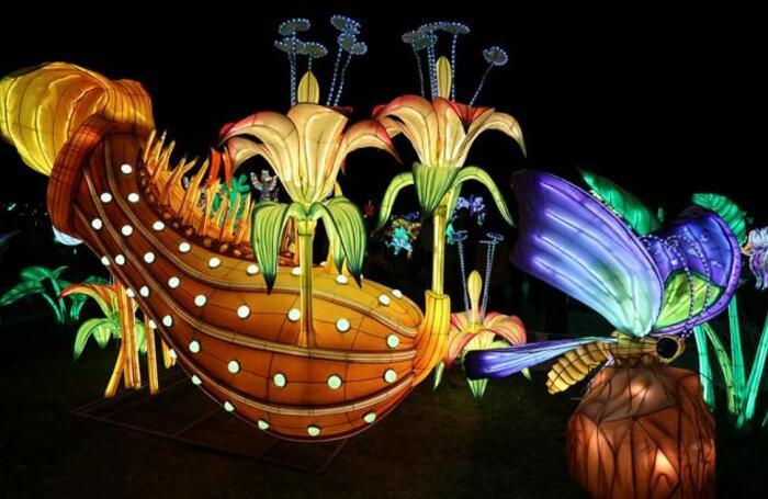 Фестиваль световых скульптур LuminoCity в нью-йоркском парке Рандаллс Айленд.