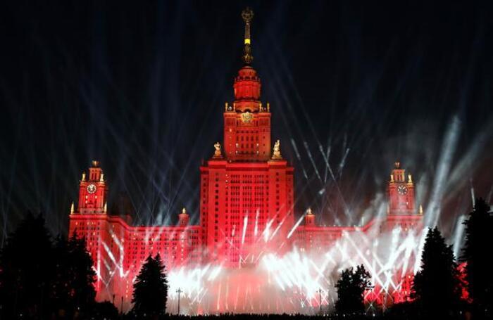 Акция «Лучи Победым в Москве.