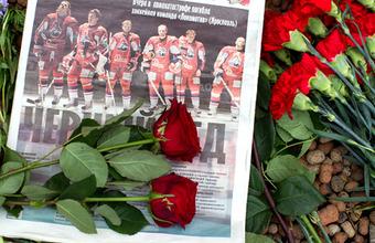 В России, Белоруссии и Украине простились с погибшими хоккеистами «Локомотива»