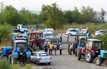 Трудный путь донских трактористов на Москву