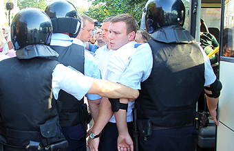 Всех участников тракторного марша арестовали