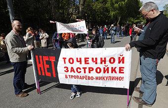 Участников «реновационных» митингов становится меньше?