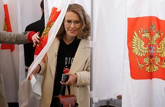 День выборов: агитация Собчак на избирательном участке и признание Путина