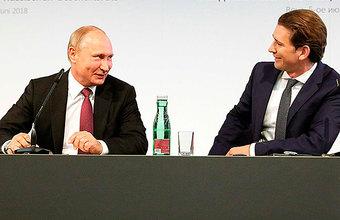 Симпатии Австрии не пустой звук: по данным WSJ, Курц взялся устроить встречу Путина и Трампа