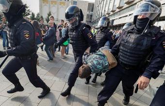Несогласованная акция в центре Москвы 3 августа