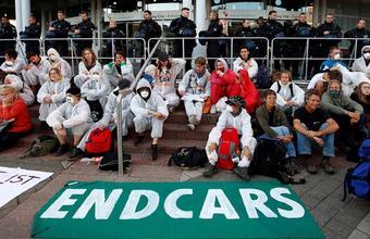 Экологический протест во Франкфурте