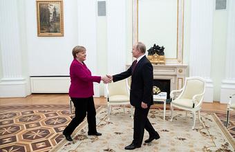 Переговоры Путина и Меркель в Кремле длились почти четыре часа