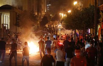 В Бейруте прошли массовые протестные акции