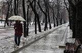 Москвичам пообещали мокрый снег и высокое давление