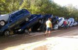 Сель в Крыму: «Там склад машин, их смыло на виноградники»