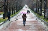 На Москву идет декабрьский тропический ливень