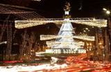 Новогодняя иллюминация в Тбилиси, Грузия.