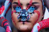 На показе дизайнера Марины Хурманседер на Берлинской неделе моды.