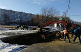 На юго-востоке Москвы образовался провал глубиной четыре метра