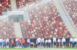 Тренировка сборной России перед матчем со сборной Саудовской Аравии на чемпионате мира по футболу – 2018.