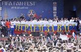 Встреча игроков сборной России по футболу с болельщиками в Москве после завершения выступления на чемпионате мира по футболу 2018 года.