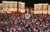 Крестный ход, приуроченный к 100-летию со дня убийства царской семьи в Екатеринбурге.