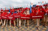 Церемония открытия всероссийской военно-спортивной игры «Победа» в парке «Патриот». Кубинка.