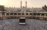 Мусульмане около Каабы в преддверии хаджа. Мекка, Саудовская Аравия.