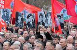 Участники шествия, посвященного 30-летию завершения вывода Ограниченного контингента советских войск из Афганистана. Военный конфликт в Афганистане продолжался с 1979 по 1989 год. Москва, Поклонная гора.