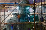 Демонстрация модели скульптуры Ржевского мемориала Советскому солдату, который планируется открыть в Тверской области в 2020 году к 75-летию Великой Победы.