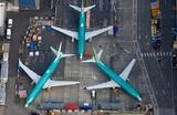 Авиалайнеры Boeing 737 MAX на территории завода Boeing в Рентоне. Вашингтон, США.