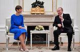 «Наверное, там есть о чем поговорить». Встреча Путина и Кальюлайд длилась два с половиной часа