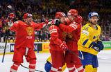 Сумасшедший бой. Российские хоккеисты нанесли сокрушительное поражение сборной Швеции