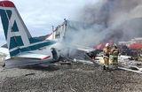 Ан-24 загорелся после аварийной посадки в Бурятии, погибли два члена экипажа