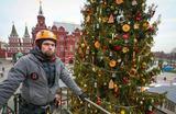 Подготовка к фестивалю «Путешествие в Рождество» в Москве.
