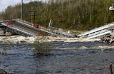В Мурманской области из-за паводка прервано железнодорожное сообщение с городом и портом