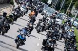 Акция байкеров в Мюнхене против введения в Германии запрета на езду на мотоциклах по воскресеньям и в праздничные дни.