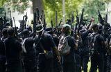 Военизированные формирования темнокожих на улицах Луисвиля. Штат Кентукки, США.