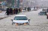 Наводнение в Карачи из-за муссонных дождей. Пакистан.