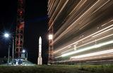 Ракета-носитель «Протон-М» с российскими спутниками связи «Экспресс-80» и «Экспресс-103» перед запуском на космодроме Байконур.