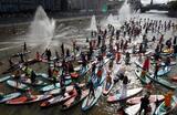 Фестиваль sup-серфинга «Московская акватория» в Москве.