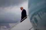 Президент США Дональд Трамп прибыл в Мариетту. Джорджия, США.