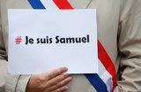 Je suis France. Под таким лозунгом во Франции прошли акции в память об убитом учителе истории