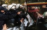 Протесты в Польше из-за запрета на аборты при неизлечимой болезни плода. Варшава.