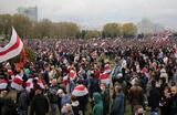 Акция протеста сторонников оппозиции в Минске.