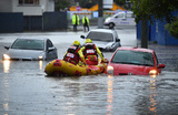 Наводнение в результате проливных дождей в Бирсбене. Австралия.